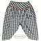 Toddler HAREM PANTS, girl/boy harems, tribal trousers, black white, houndstooth